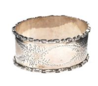 ENGRAVED STERLING SILVER NAPKIN RING