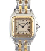 CARTIER 18CT GOLD AND STAINLESS STEEL LADY'S WRIST WATCH