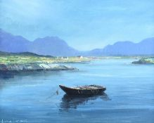 Norman J. McCaig - BALLYNAKILL HARBOUR, CONNEMARA - Oil on Board - 16 x 20 inches - Signed