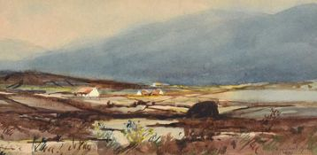 Rowland Hill, RUA - IN THE MOURNES - Watercolour Drawing - 5 x 10 inches - Signed