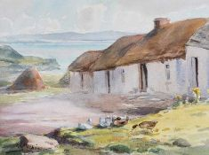 Kathleen Isabella Mackie, ARUA - HORN HEAD, DONEGAL - Watercolour Drawing - 10 x 13.5 inches -