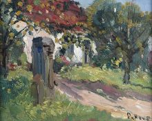 David Hone - SUMMER GARDEN - Oil on Board - 8 x 10 inches - Signed