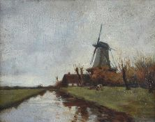 James Reid Murray - EDAM, HOLLAND - Oil on Board - 8 x 10 inches - Signed in Monogram