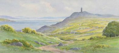 George W. Morrison - SCRABO, COUNTY DOWN - Watercolour Drawing - 7 x 14 inches - Signed