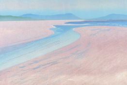 Margaret Arthur - WIND SWEPT BEACH, DONEGAL - Limited Edition Coloured Lithograph (10/30) - 17 x