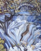 Grace Henry, RUA - THE WATERFALL - Oil on Canvas - 24 x 20 inches - Signed