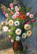 Gladys Maccabe, HRUA - STILL LIFE, FLOWERS - Oil on Board - 27 x 19 inches - Signed