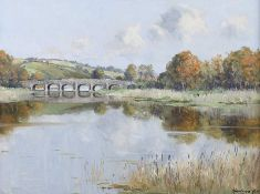 Rowland Hill, RUA - REEDS BY THE BRIDGE - Oil on Canvas - 18 x 24 inches - Signed