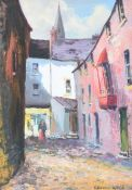 Kenneth Webb, RUA - BUTTERMILK LANE, GALWAY - Oil on Board - 14 x 10 inches - Signed