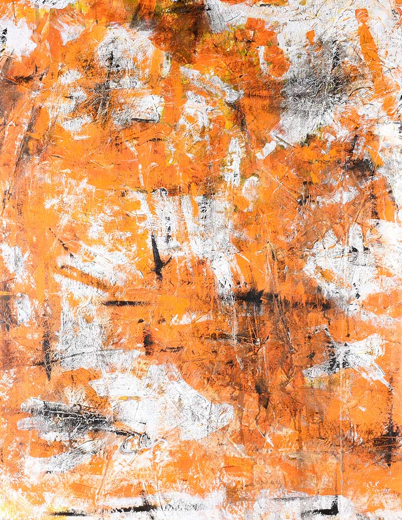 Ken Giles - ORANGE FIELD - Acrylic on Canvas - 47 x 37 inches - Signed