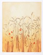 Lola Stafford - SUMMER WHEAT - Limited Editoin Coloured Lithograph (7/100) - 11.5 x 9 inches -