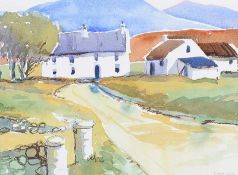 Desmond Turner, RUA - FARMHOUSE IN THE MOURNES - Watercolour Drawing - 11 x 15 inches - Signed