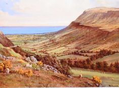 David Overend - GLENARRIFFE, COUNTY ANTRIM - Coloured Print - 6 x 8 inches - Signed