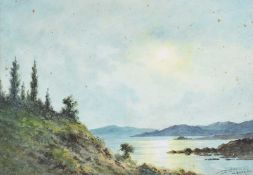 Douglas Alexander, RHA - KILLRAN BAY, CONNEMARA - Watercolour Drawing - 10 x 14 inches - Signed
