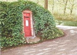 Nigel Ashcroft - POSTBOX, LAMORNA - Watercolour Drawing - 6.5 x 9 inches - Signed in Monogram