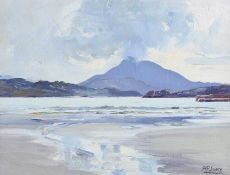Anne Primrose Jury, HRUA - MUCKISH FROM DOWNINGS BAY, DONEGAL - Oil on Canvas on Board - 12 x 15