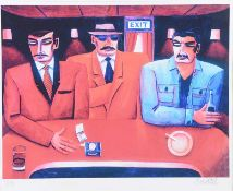 Graham Knuttel - AT THE BAR - Limited Edition Coloured Print (1/10) - 17 x 22 inches - Signed