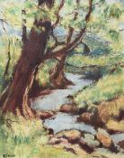 William Conor, RHA RUA - MINNOWBURN - Oil on Canvas - 18 x 14 inches - Signed
