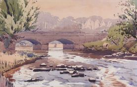 Samuel McLarnon, UWS - THE MARGY BRIDGE, BALLYCASTLE - Watercolour Drawing - 11 x 18 inches -