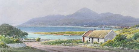 George W. Morrison - ROSSGLASS, COUNTY DOWN - Watercolour Drawing - 9 x 23 inches - Signed