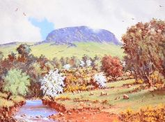 David Overend - SLEMISH MOUNTAIN, COUNTY ANTRIM - Coloured Print - 6 x 8 inches - Signed