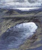 James Manley, RUA - LOUGH SHANNAGH - Pastel on Paper - 7 x 6 inches - Signed