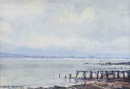 Frank Murphy - THE PIER AT HOLYWOOD - Watercolour Drawing - 7 x 9 inches - Signed