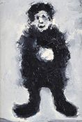 Ross Wilson, ARUA - THE ART DEALER - Oil on Board - 7 x 4.5 inches - Signed in Monogram