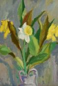 Phoebe Donovan, RUA - STILL LIFE, DAFFODILS - Oil on Board - 18 x 13 inches - Signed