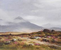 Maurice Canning Wilks, ARHA RUA - IN THE INAGH VALLEY, COUNTY GALWAY - Oil on Canvas - 16 x 20