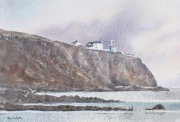 Paul Holmes - LIGHTHOUSE AT BLACKROCK - Watercolour Drawing - 10 x 14 inches - Signed