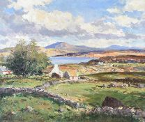 Maurice Canning Wilks, ARHA RUA - AT MARBLE HILL STRAND, DONEGAL - Oil on Canvas - 20 x 24