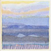 Colin Middleton, RHA RUA - MOUNTAIN LOUGH - Watercolour Drawing - 3 x 3 inches - Signed in Monogram