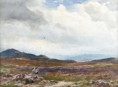 Wycliffe Egginton, RI RCA - NEAR ABERFELDY, SCOTLAND - Watercolour Drawing - 10 x 14 inches -