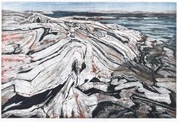 Ed Bartram - OUTER SHOALS, GEORGIAN BAY - Limited Edition Coloured Lithograph (6/35) - 24 x 36
