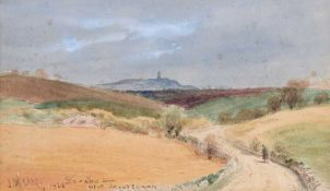 Joseph William Carey, RUA - SCRABO NEAR BALLYCOWAN - Watercolour Drawing - 6 x 10 inches - Signed