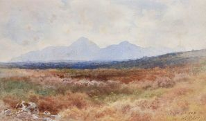 Joseph William Carey, RUA - SLIEVE DONARD, COUNTY DOWN - Watercolour Drawing - 8 x 14 inches -