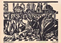 Harry Kernoff, RHA - BOON COMPANIONS - Black & White Print - 6 x 8 inches - Unsigned