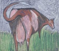 Sian Maxwell - COW - Pastel on Paper - 10 x 12 inches - Signed Verso