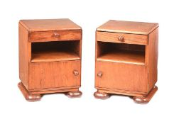 PAIR OF ART DECO BEDSIDE PEDESTALS