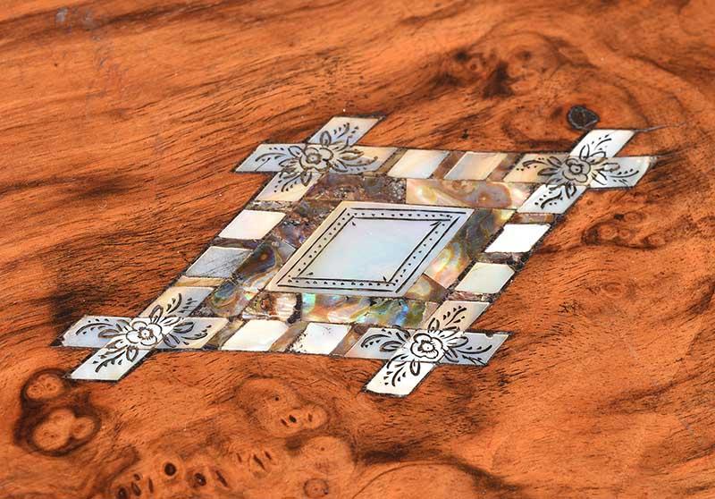 VICTORIAN WALNUT JEWELLERY BOX - Image 2 of 5