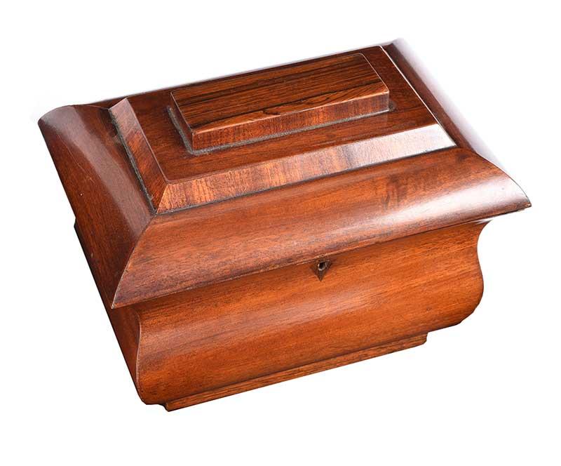 REGENCY ROSEWOOD & MAHOGANY JEWELLERY BOX - Image 2 of 4