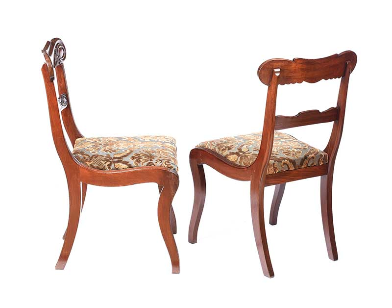 PAIR OF WILLIAM IV MAHOGANY SIDE CHAIRS - Image 5 of 5