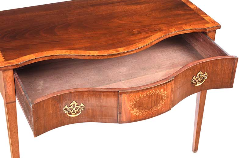 ANTIQUE SHERATON STYLE SIDE TABLE - Image 5 of 8