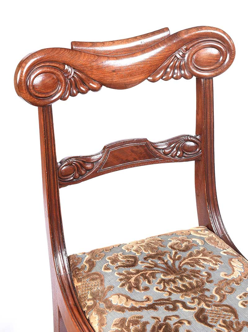 PAIR OF WILLIAM IV MAHOGANY SIDE CHAIRS - Image 2 of 5