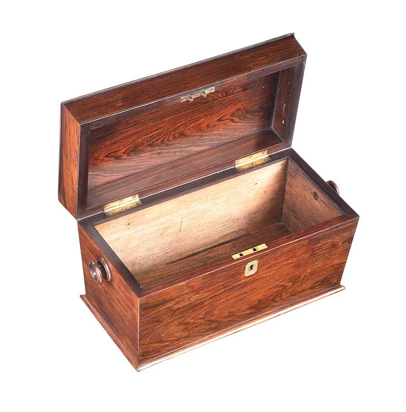 GEORGIAN ROSEWOOD JEWELLERY BOX - Image 4 of 4