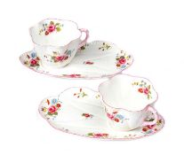 TWO SHELLEY CUPS & BISCUIT PLATES