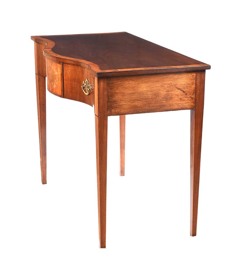 ANTIQUE SHERATON STYLE SIDE TABLE - Image 8 of 8