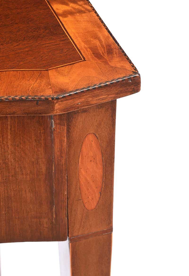 ANTIQUE SHERATON STYLE SIDE TABLE - Image 6 of 8