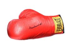SIGNED EVERLAST BOXING GLOVE BY MOHAMMED ALI